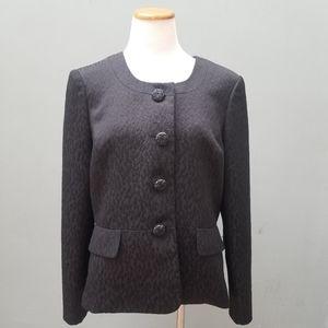 Le Suit Texture Suit Blazer Black 14